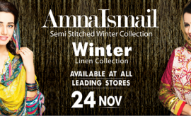 Amna Ismail Semi Stitched Winter Dresses Collection 2015 for Women