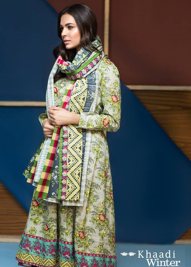 2 piece khaddar winter dress