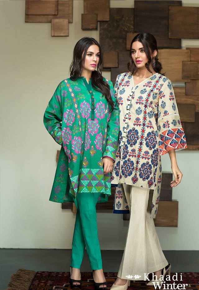 two piece khaddar suits