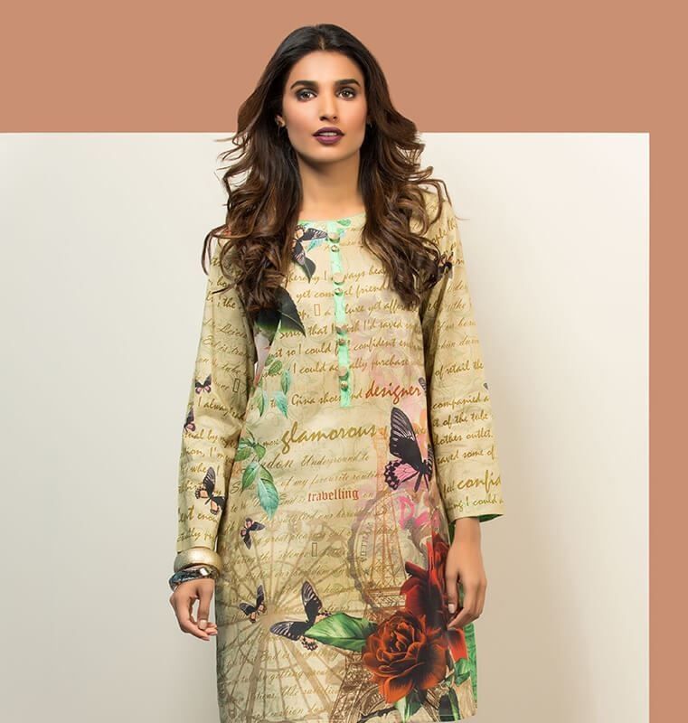 Orient digital printed tunic for winters