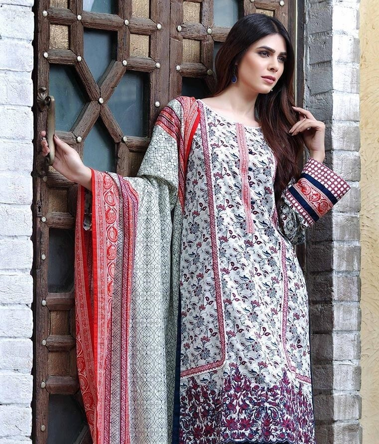 Orient Textile khaddar suit with embroidered daman