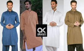 Alkaram Studio Winter Kurta and Salwar Suits Collection 2015-2016 for Men