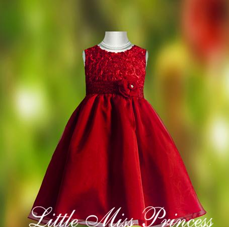 Girls Red Christmas Dresses - RP Dress