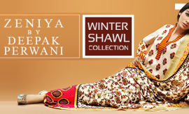 Zeniya by Deepak Perwani Winter Shawl Collection 2015 for Women