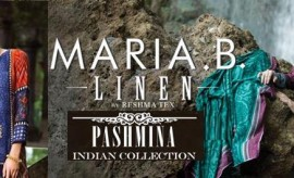 Maria B Indian Pashmina and Premium Luxury Linen winter Collection 2015-2016