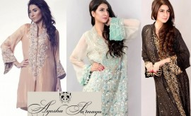 Ayesha Somaya Party Wear Fomral Winter Dresses for Women