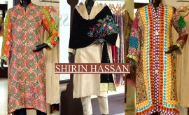Shirin Hassan Best Winter Dresses and Party wear Dresses Collection 2015