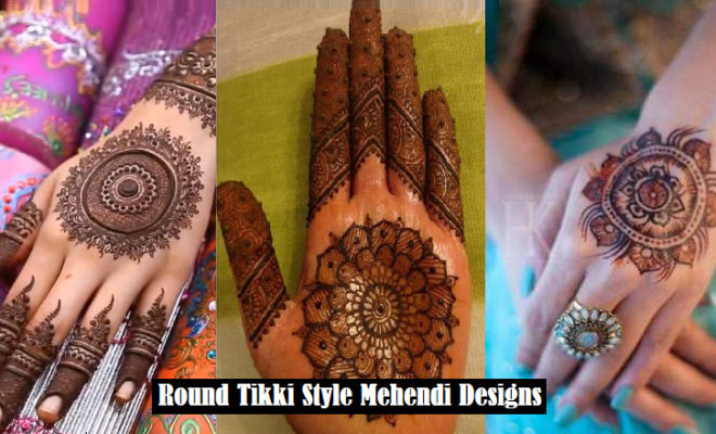 Best Gol Tikka Mehndi Designs 2017 2018 To Try On Events