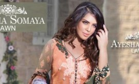 Ayesha Somaya Lawn New Spring Summer Collection 2015