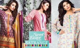 Satrangi Lawn Spring Summer Sweet Escape Collection 2015 by Bonanza Garments