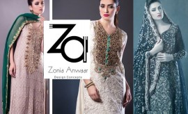Zonia Anwaar Beautiful Party wear Designer Formal Dresses Collection