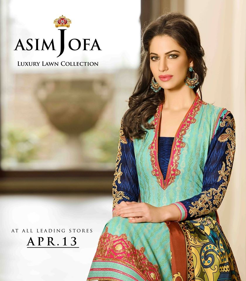 Asim Jofa Luxury Lawn Summer Collection 2015-2016 Complete Catalogue