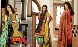 Asim Jofa Luxury Lawn Summer Collection 2015 Catalogue