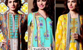 THREDZ Spring Summer Lawn Dresses Collection 2015 Catalogue