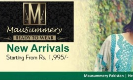 Mausummery Lawn New Spring Summer Embroidered Collection 2015 Catalogue