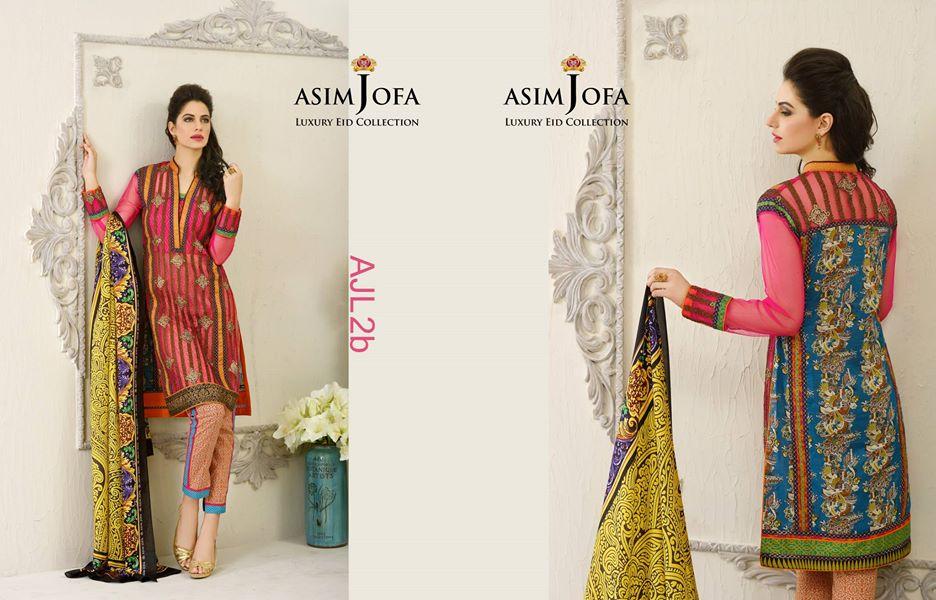 asim jofa luxury eid collection 2015 2016 festive catalogue. Black Bedroom Furniture Sets. Home Design Ideas