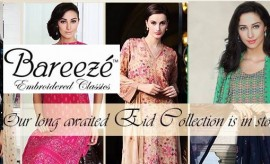 Bareeze New Festive Eid Embroidered Collection 2015 Catalogue