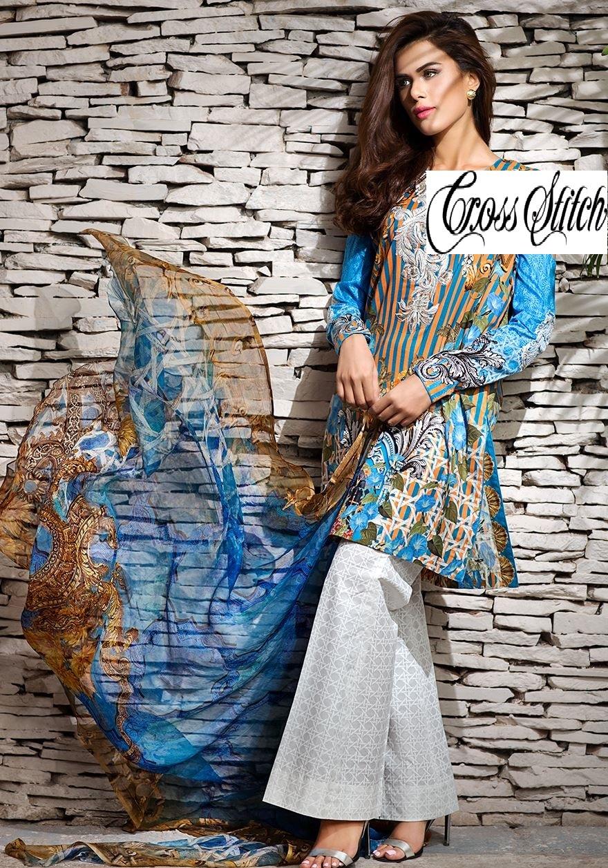 Cross Stitch Eid Dresses 2016-2017 Look-Book (9)
