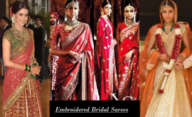 Beautiful Embroidered Indian Bridal Saree Collection for Indian Brides