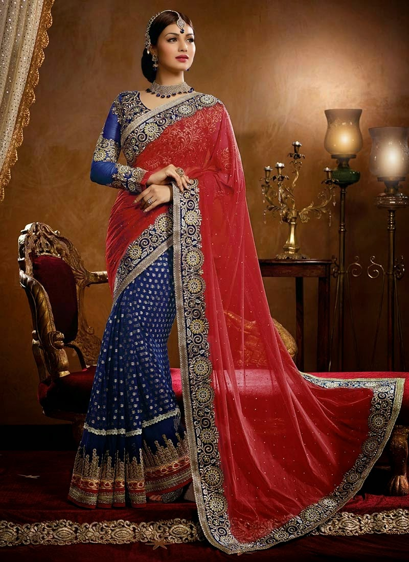 Designer-Embroidered-Indian-Bridal-Sarees (1)