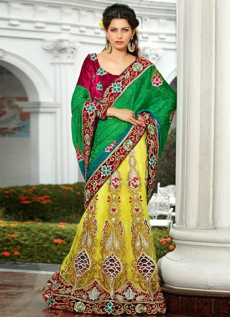Designer-Embroidered-Indian-Bridal-Sarees (11)
