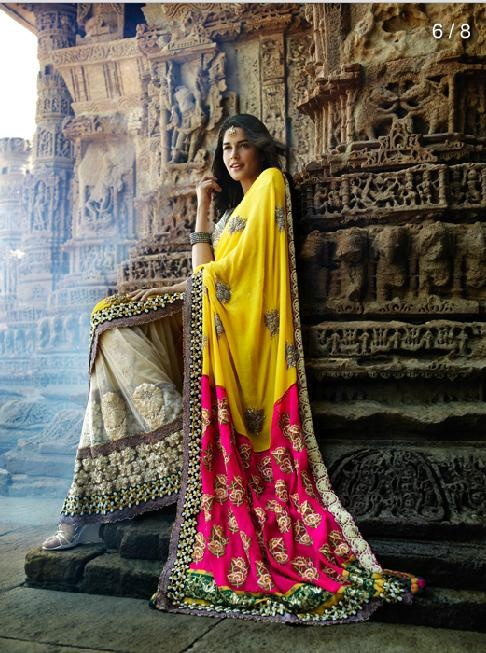 Designer-Embroidered-Indian-Bridal-Sarees (13)