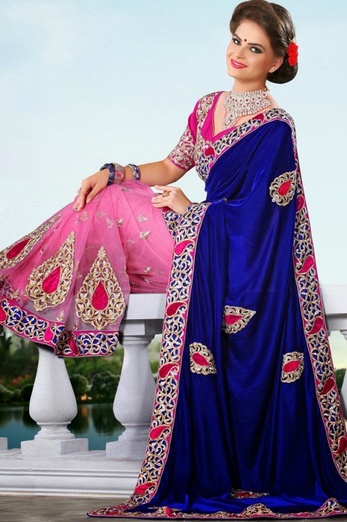 Designer-Embroidered-Indian-Bridal-Sarees (14)