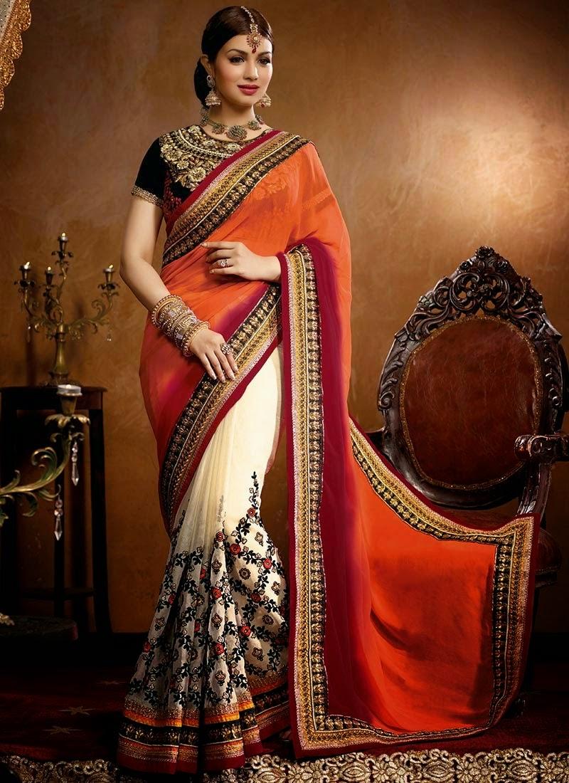 Trendy Indian Wedding Party Wear Ladies Designer Anarkali: Indian Bridal Saree 2017-2018 Designs For Indian Dulhans