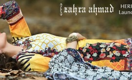 Zahra Ahmad New Heritage Lawn Eid Collection 2015 Catalogue