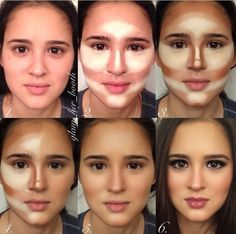 Makeup Base Contouring Tutorial - How to apply foundation contouring?