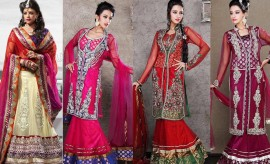 Latest Embroidered Indian Bridal Lehenga Choli 2017 Designs for Wedding Brides