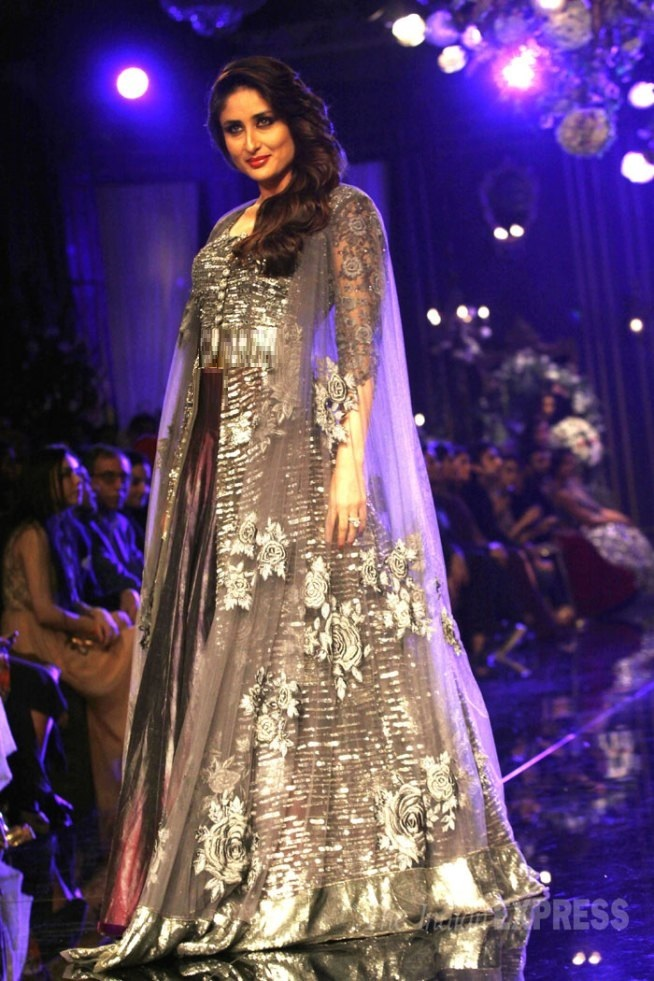 Kareena Kapoor in Grey Bridal Dress
