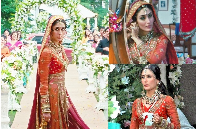 Kareena Kapoor in Orange Bridal Dress