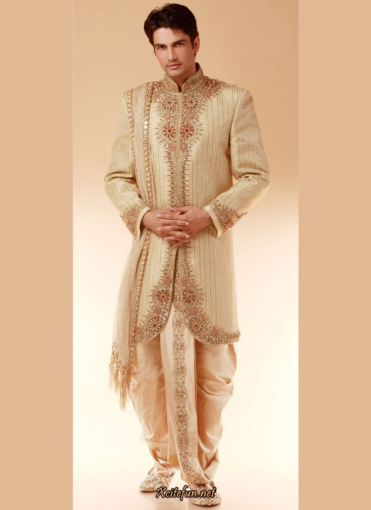 Indian grooms dress designs 2017 2018 for indian dulhas for Wedding dress shirts for groom