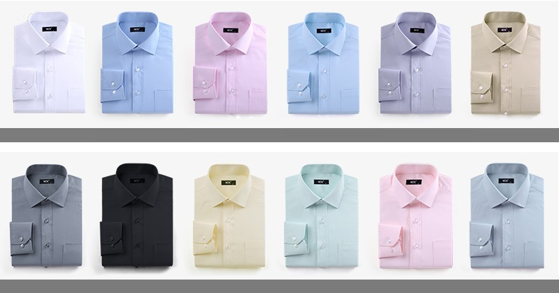 Menswear formal shirts colors