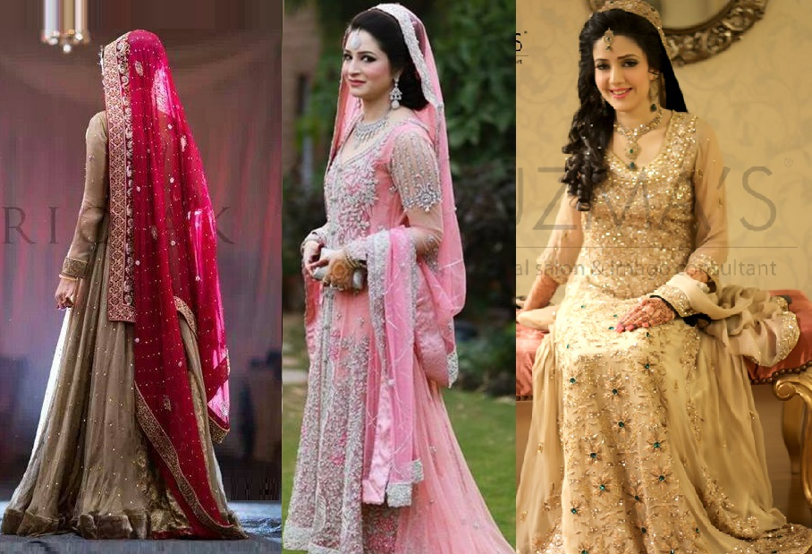 Mehndi Wedding Dresses 2016 : Pakistani designer bridal dresses 2017 2018 stunning designs