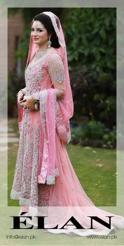 Pakistani Designer Pink Bridal Dress by Elan