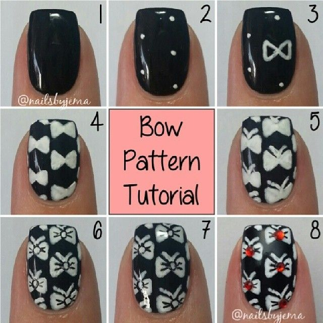 Bow Nail Art Designs 2017 with Tutorials - Remarkable Bow Nail Ideas