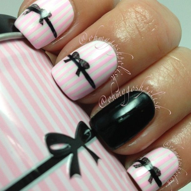 Best-Bow-Nail-Art-designs-with-Tutorials (28)