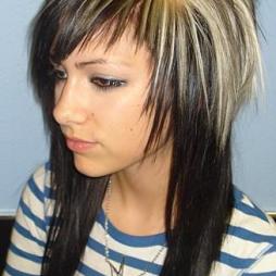 emo girl hairstyles for all length hair   emo girl