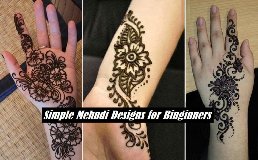 Easy Mehndi Tutorial : Easy henna designs tutorial makedes