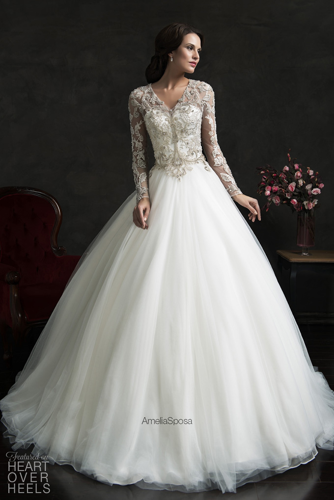 Umbrella Frock Christian wedding dress