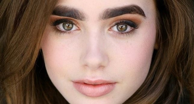 beautiful girl with thick eyebrows