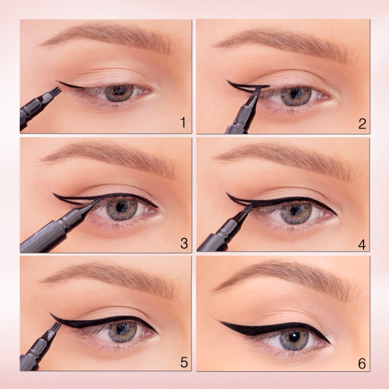 winged eyeliner tutorial learn how to apply winged eyeliner. Black Bedroom Furniture Sets. Home Design Ideas