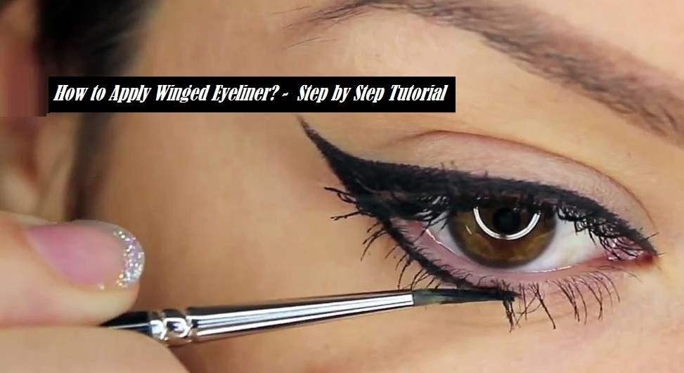 From Winged eyeliner step by step thought differently