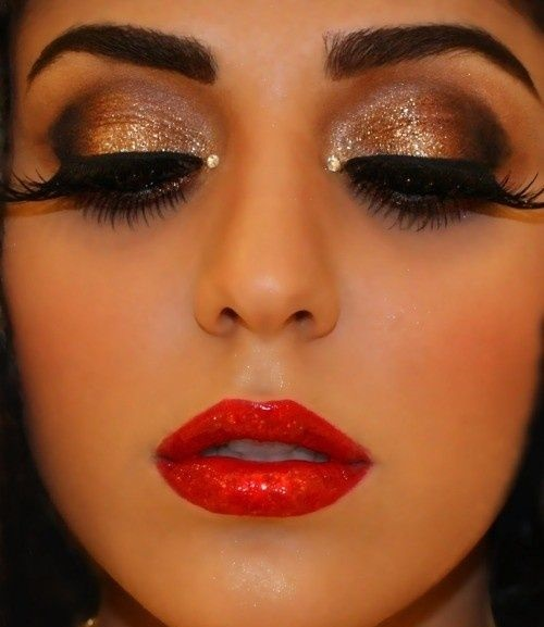 How-to-do-shimmery-face-makeup-tutorial (10)
