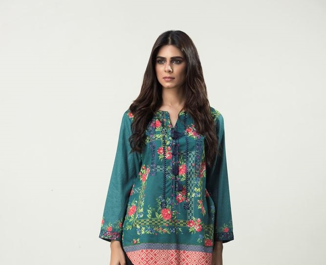 outfitters embroidered shirt with plain printed back