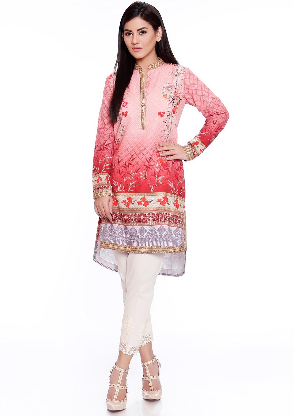 SO kamal winter two piece karandi suit in pink color