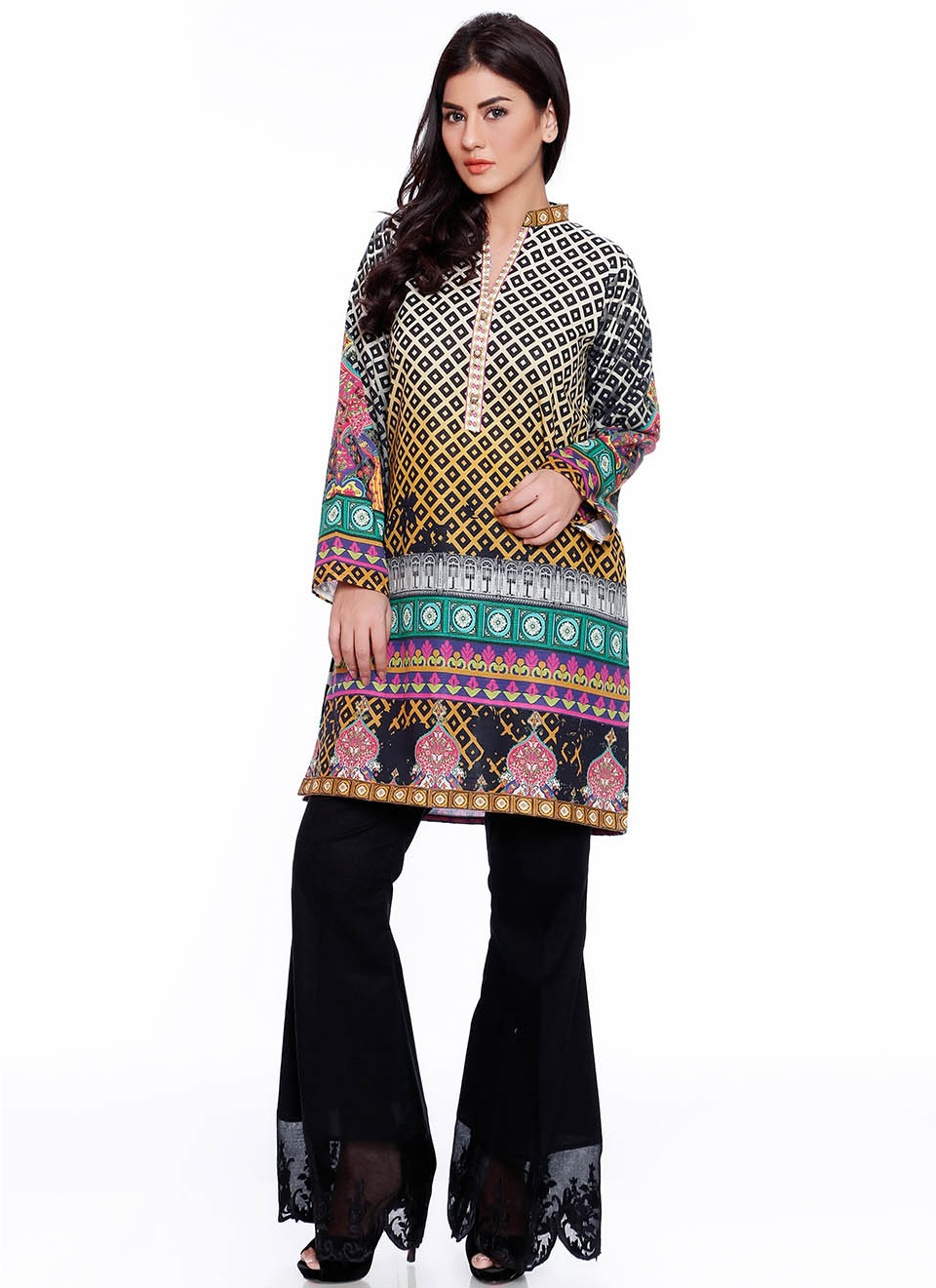 karandi printed RTW Tunic for winters