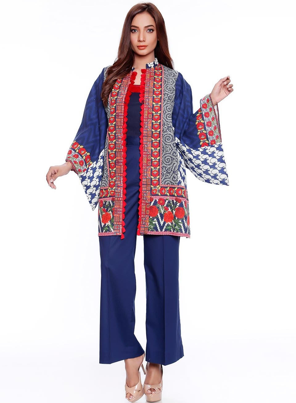 digital printed karandi two piece winter suit by so kamal